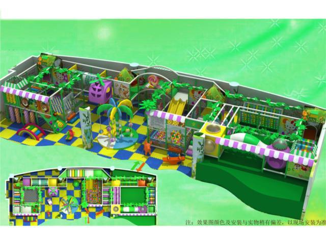 淘气堡儿童乐园系列 - 豪华淘气堡设计图 - bh 3011堡