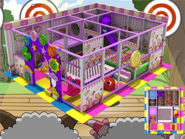 淘气堡儿童乐园系列 - 豪华淘气堡设计图 - bh 3018堡